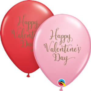 Romantic Latex Balloons | Valentines Day Script 25pcs | Free Delivery